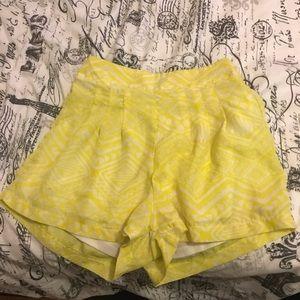 Pants - Bright yellow shorts